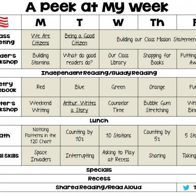 Peek at My Week!